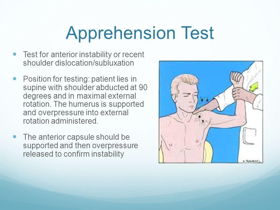 Image result for image of testing for shoulder instability